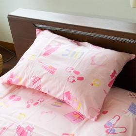【女の子にピッタリの綿100%カバー】 枕カバー 35×50cm 綿100% Westy 日本製 『 オズガール2 』 ガールズ コレクション 柄 ピンク かわいい ピローケース 35 50