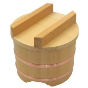 木曽の桶屋 木曽さわらのおひつ(のせ蓋)6寸 3合用