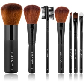 Shany Studio Quality Cosmetic Brush Set 7 Piece Mink Hair with Bag