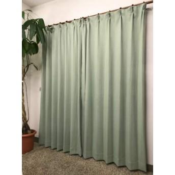 遮光性プリントカーテン (グリーン, 幅100cm×丈200cm 2枚入)