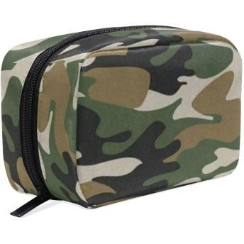 カモフラ柄 迷彩柄 化粧ポーチ メイクポーチ 機能的 大容量 化粧品収納 小物入れ 普段使い 出張 旅行 メイク ブラシ バッグ 化粧バッグ