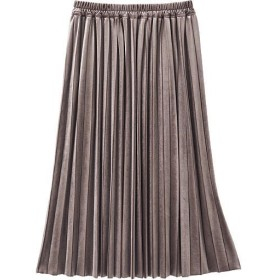 50%OFF【レディース】 ベロアプリーツスカート ■カラー:ココアブラウン ■サイズ:S,M