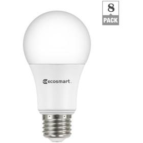 EcoSmart 60W相当ソフトホワイトa19エネルギースター調光機能付きLED電球 8 Pack A810SS-Q1D-01