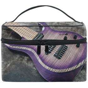 Purple Guitar収納バッグ コスメポーチ 化粧ポーチ 洗面用具入れ トラベルポーチ 旅行 出張 収納 コスメバッグ コンパクト 超軽量