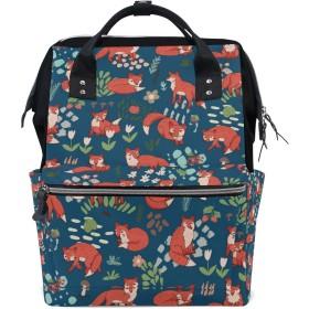 ママバッグ マザーズバッグ リュックサック ハンドバッグ 旅行用 狐柄 可愛い ファション