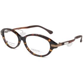 NJ5003 NJ-5003 ネオジン NEOJIN ねおじん 鼻パッドなし 鼻あてなし ユニセックスモデル 日本製 メガネ 鼻バッドのない 跡のつかない メガネ 眼鏡 めがね 52mm (C30 DEMI BROWN デミブラウン)
