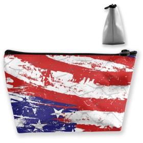 収納ポーチ ペイントアメリカの国旗 化粧ポーチ トラベルポーチ 小物入れ 小財布 防水 大容量 旅行 おしゃれ