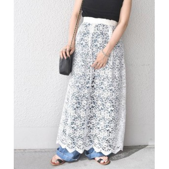 【77%OFF】 シップス アウトレット (2332)WCO: LACE MAXI SK レディース ホワイト ONE SIZE 【SHIPS OUTLET】 【タイムセール開催中】