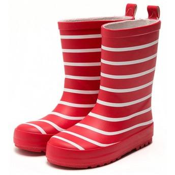 キッズ長靴レインブーツ 子供防水靴レインシューズ キッズ防水長靴 ベビー ガールズ ボーイズ防水シューズ レッド 15.5