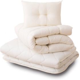 エムール 日本製 布団セット シングル 3点セット(掛け布団 敷き布団 枕) 綿100% 防ダニ 抗菌 防臭 「クラッセ」 圧縮梱包