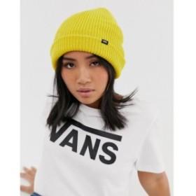 ヴァンズ Vans レディース ニット 帽子 Core beanie in yellow
