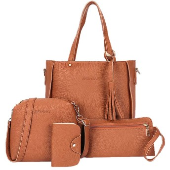 女性のためのSimpleLifeハンドバッグトートバッグショルダーバッグサッチェルメッセンジャーサッチェルセット4本財布セット