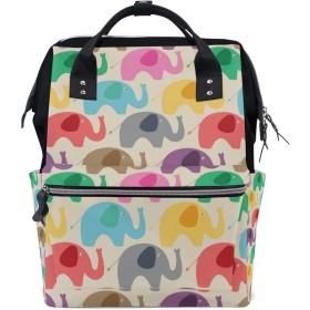 ママバッグ マザーズバッグ リュックサック ハンドバッグ 旅行用 可愛い 象柄 ファション