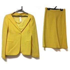 ヴェルサーチジーンズ VERSACE JEANS COUTURE スカートスーツ サイズ38 M レディース イエロー 肩パッド【中古】