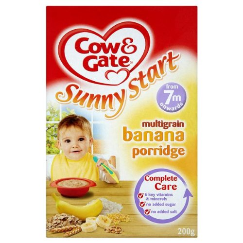 Cow /& Gate Sunny Start Multigrain Banana Porridge from 7m onwards 200g