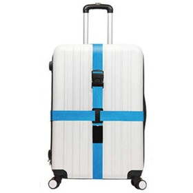 [RADISSY] スーツケースベルト ロック ダイヤル式 バンド 十字 旅行 出張 キャリーケース (ブルー)