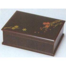 越前漆器 漆遊館 歳時記 【G4326-01】 溜 春秋 宝石箱 化粧箱 18×12.8×6.5cm