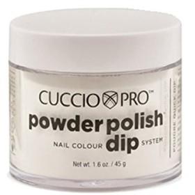 Cuccio Pro - Powder Polish Dip System - White w/Silver Mica - 1.6 oz / 45 g