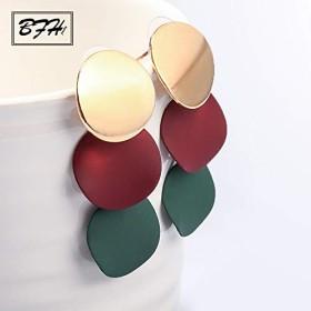 BFH ファッションヴィンテージボール声明ドロップ女性幾何ユニークな金属ブラブライヤリングジュエリー卸売ピアス
