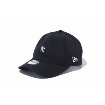 NEW ERA ニューエラ キッズ 9TWENTY クロスストラップ ニューヨーク・ヤンキース ミニロゴ ブラック × スノーホワイト アジャスタブル サイズ調整可能 ローキャップ ベースボールキャップ キャップ 帽子 男の子 女の子 52 - 55.8cm 12108344 NEWERA