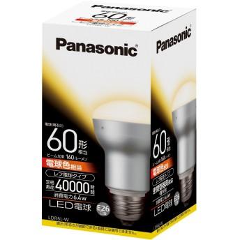 パナソニック LED電球 EVERLEDS レフ電球60W相当 密閉形器具対応 E26口金 電球色相当(6.4W) 一般電球・レフタイプ LDR6LW