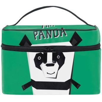 ユニーク Angle Panda おしゃれな メイクアップバッグ メイク道具 小物 お財布 化粧品 軽く 化粧ポーチ