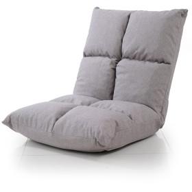 LOWYA 座椅子 42段階 リクライニング 肉厚ボリューム 低反発 ソファ生地 グレー