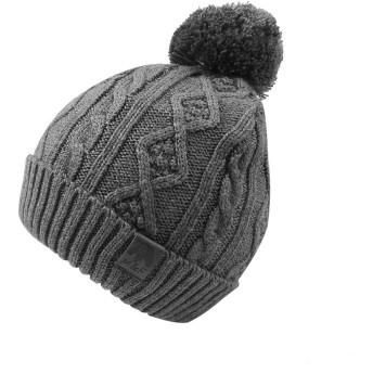 NEWAMSTARベビーニット帽 赤ちゃん帽子 秋冬用 ニットハット 手編み ポンポン付き コットン 暖かい 肌さわりよく 3色 男の子 女の子 防寒 (グレー,3~12ヶ月)