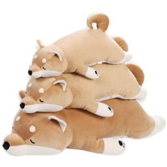 イヌぬいぐるみ 犬 巨大 抱き枕 縫い包み 大きい 可愛い動物 添い寝枕 特大 ふわふわ お人形 女の子 ネムネム プレゼント 置物 店飾り 柴犬 ブラウン トイ インテリア おもちゃ 45cm