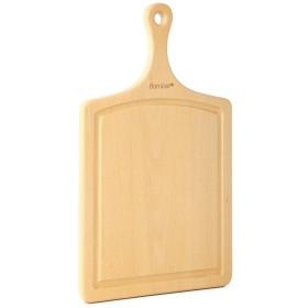 KingsleyW ロングハンドル厚め非割れ抗菌滑り止めチョッピングボード、ウッドカラー (色 : Wood)