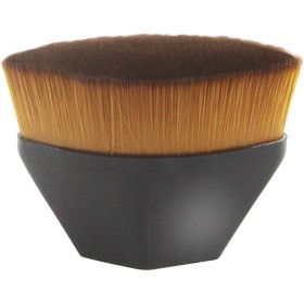 SUPER DREAM メイクアップブラシ 粧ブラシ 人気 メイクブラシ 化粧ブラシ 可愛い 化粧筆 肌に優しい ファンデーションブラシ 携帯便利 高密度合成毛 ベース ブラシ (黒)