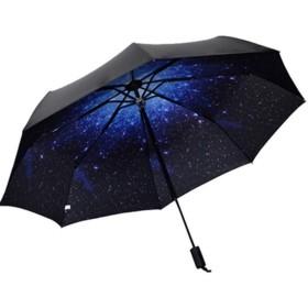 折りたたみ傘 QINGPU 日傘 UVカット 遮光率99% 高強度グラスファイバー8本骨 耐風撥水 晴雨兼用 レディース 旅行 アウトドア用 収納ポーチ付 (星の空)