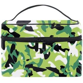 コスメポーチ 化粧品収納バッグ 洗面用具 おしゃれカラー迷彩