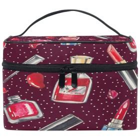 La Rose 化粧箱 化粧ポーチ 大容量 おしゃれ 口紅柄 化粧品 軽量 小物入れ 持ち運び かわいい 多機能 コスメポーチ メイクポーチ 収納バッグ 出張 旅行 プレゼント