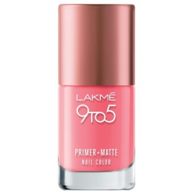 Lakme 9 to 5 Primer and Matte Nail Color, Blush, 9ml