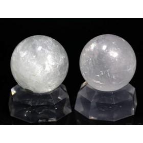 【石流通センター】☆置石一点物☆【置き石】丸玉 ホワイトカルサイト (2個セット) No.19 天然石 パワーストーン