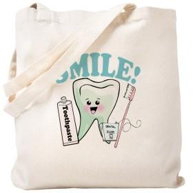 CafePress–歯科医歯科衛生士歯–ナチュラルキャンバストートバッグ、布ショッピングバッグ S ベージュ 0586766782DECC2