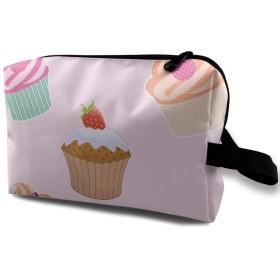 MEClOUD 化粧ポーチカップケーキ メイクポーチ コスメバッグ 収納 雑貨大容量 小物入れ 旅行用