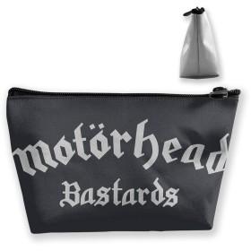 収納袋 コスメ袋 筆箱 台形 化粧品入れ 高級品 軽い 大容量 日常 通勤 通学 出張 運動 機能的 プレゼント Motorhead ロゴ