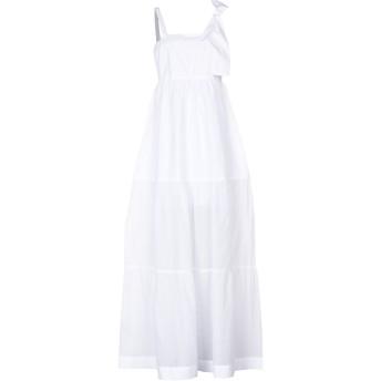 《セール開催中》PINKO レディース ロングワンピース&ドレス ホワイト 42 100% コットン