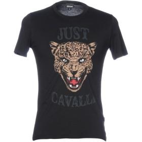 《セール開催中》JUST CAVALLI メンズ T シャツ ブラック S コットン 100%