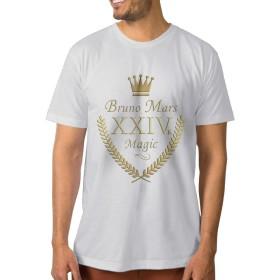 メンズ ブルーノマーズ グッズ 24K Tシャツ 半袖 コットン 柔らか Medium ホワイト