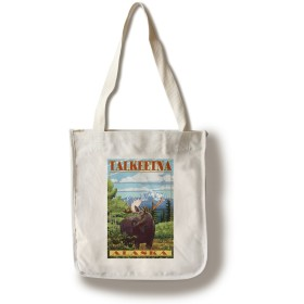 Talkeetna、アラスカ–Mooseシーン Canvas Tote Bag LANT-53642-TT