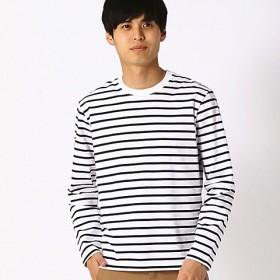 <COMME CA ISM (メンズ)> ボーダーTシャツ(4765TL03) ホワイト 【三越・伊勢丹/公式】