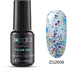 Inagla ジェルネイル カラージェル ポリッシュ パール系 1色入り 8ml-ZG2608