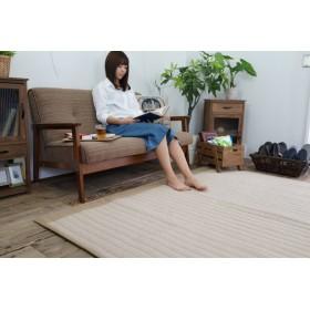 軽量 キルトラグ hickory-130185-be (SUL) 約130×185cm ベージュ 洗濯できる ホットカーペットカバー 床暖対応 インテリアショップゆうあい