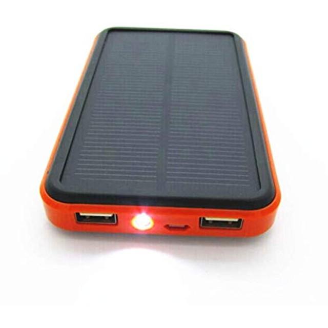 NETKEY 大容量ソーラーモバイルバッテリー 30000mAh 生活防水 iphone&Android対応 大きいソーラーパネル パワーアップ! ソーラーチャージャー 2台同時充電 夜間/アウトドアに便利なLEDライト付き 当社オリジナルパッケージ 日本語取扱説明書付き