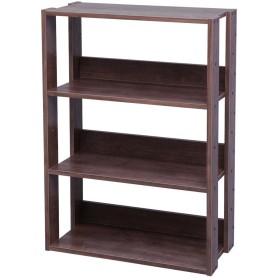 アイリスオーヤマ オープンラック 木製 4段 幅60×奥行29.2×高さ87.9cm ブラウン OWR-600