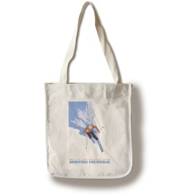 Stylized Skier – whistler-blackcomb、BC Canvas Tote Bag LANT-25905-TT
