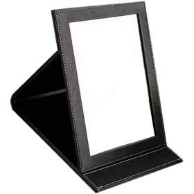 SD ミラー テーブルミラー スタンドミラー 鏡 化粧鏡 折りたたみミラー 角度調節 ブラック MIRRO-BK